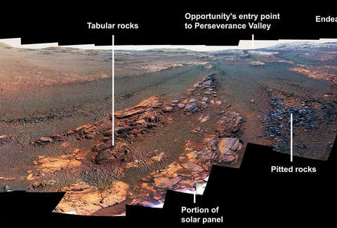 Opportunity rover left us with one last lovely  panorama of Mars