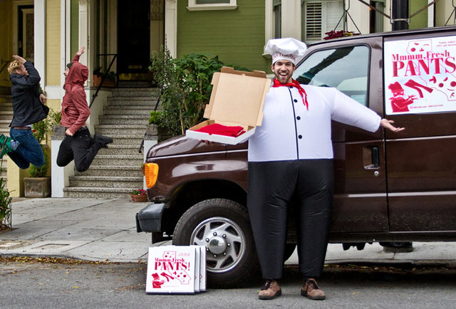 Get Pants Delivered In A Pizza Box