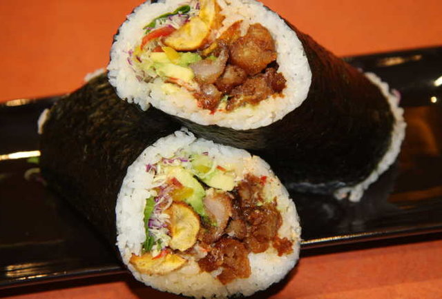 Behold, the sushi burrito