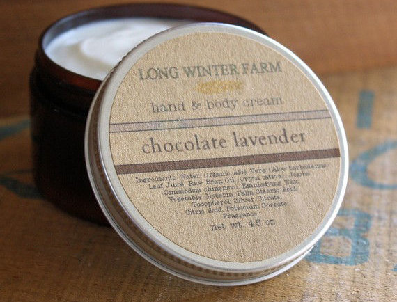 Long Winter Farm's Chocolate Lavender Skin Cream