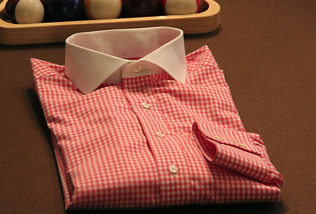 Custom Berry Gingham Shirt