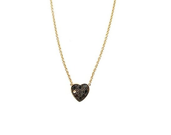 Phoenix Roze Pave Heart Necklace