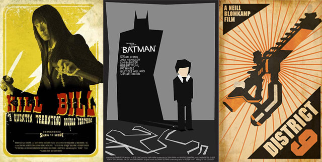 Your favorite flicks get an old school poster makeover
