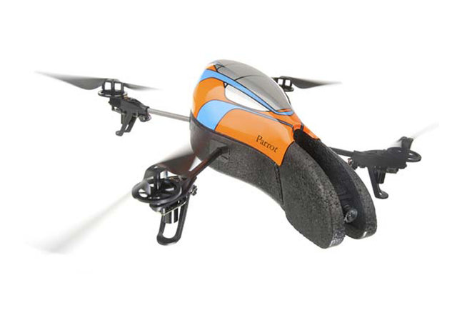 A high-tech RC helicopter with a built-in HD camera