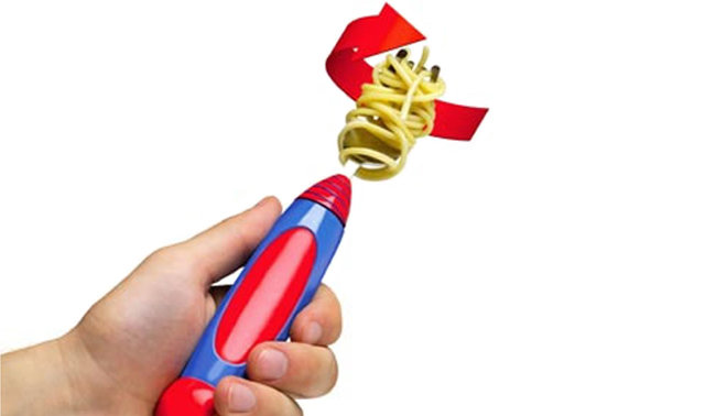 This electric utensil spins your spaghet' for you