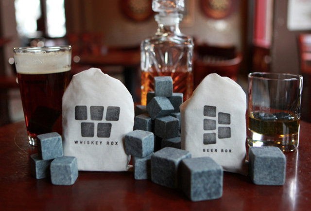 Sip your booze on (the) rocks