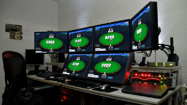 Poker monitor setup