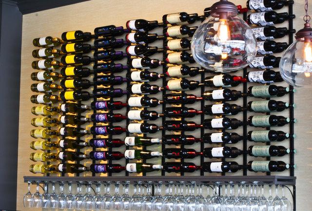 Volare Bistro wine bar bottles