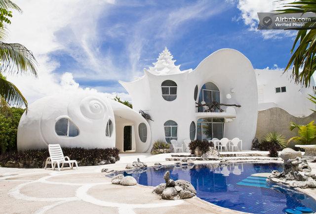 The Seashell House Main-It's a house shaped like a freaking seashell!