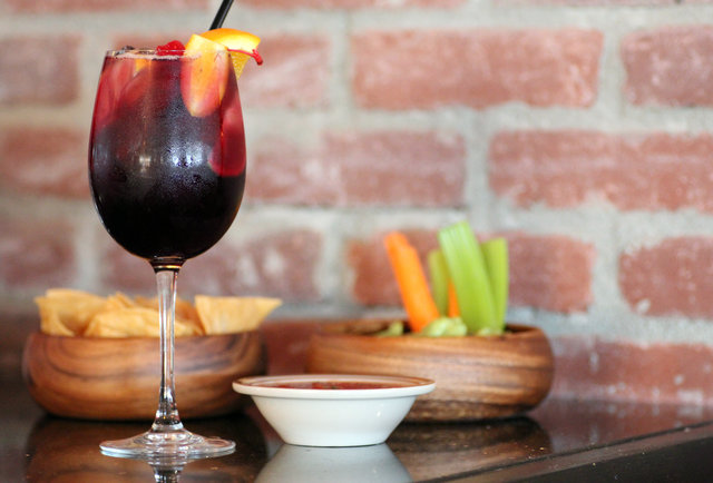 Papagayo's Sangria with Chips and Salsa