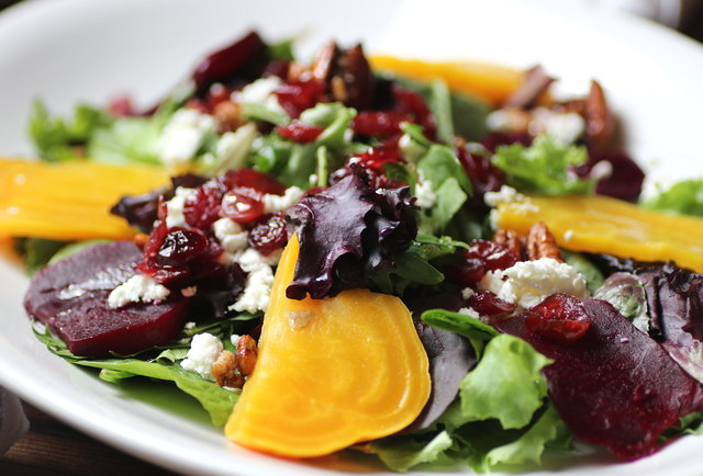 Roasted Beet & Arugula Salad at Mason's Restaurant & Barre in Minneapolis