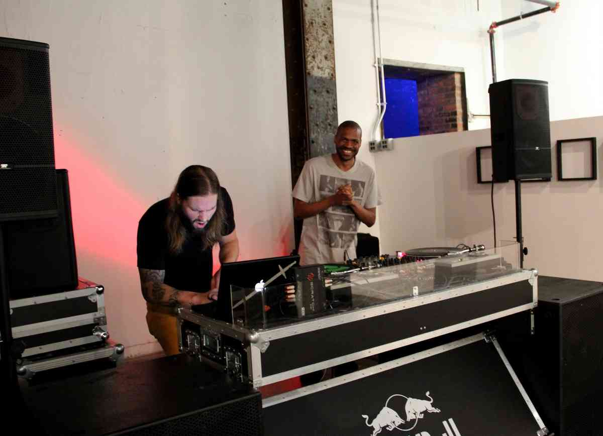 Jeff Risk and Sterling Toles at DJ booth