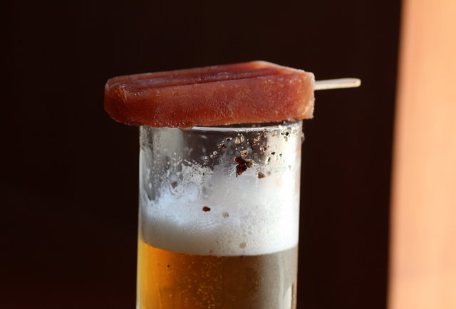 Michelada pop for dipping in beer