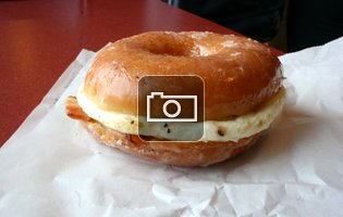 First Taste: Dunkin Donuts' totally healthy new bacon 'n egg Glazed Donut Breakfast Sandwich