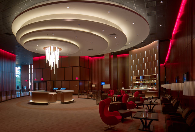 Cocktail bar and lounge at the Chestnut Hill Showcase SuperLux-This movie theater just became your new go-to bar
