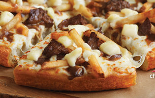 Poutine pizza is here!! Or actually in Canada. Of course.