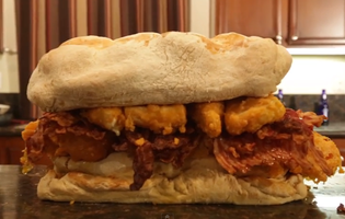 The guys at Epic Meal Time went and made a FIFTY pound grilled cheese