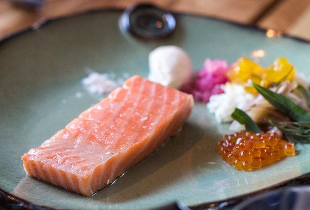 Qui salmon butter