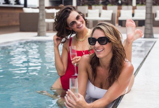 Rio Rooftop pool waitress-Thrillist kicks it with the bikini babes of 6th St's first rooftop pool