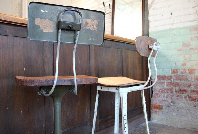 Shinola juice bar chairs