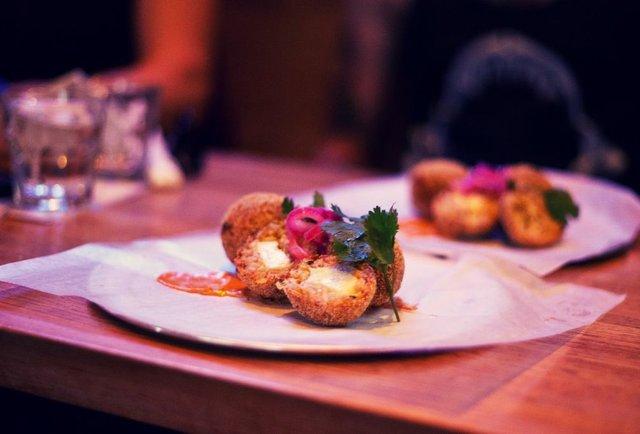 Mexican risotto balls
