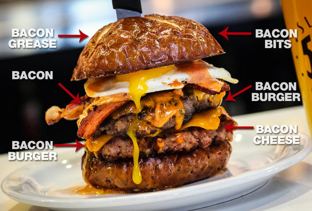 This 'Merica Burger is basically 100% made of bacon