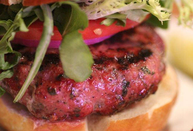 Lamb and feta burger at The Butcher Shop