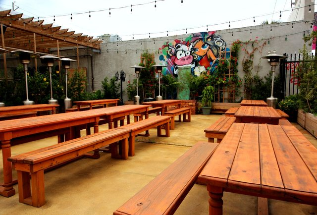 Beer garden at The Butcher Shop