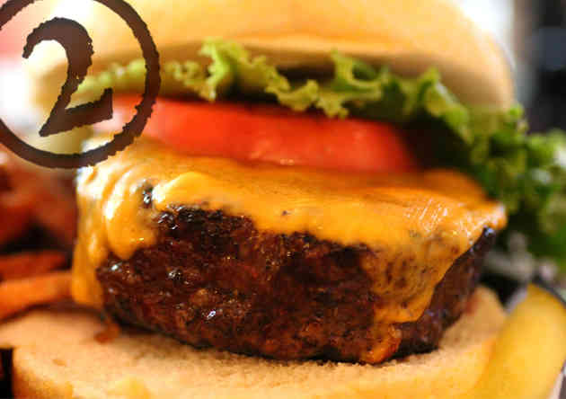 8oz certified angus beef burger, Gilbert's 17th St Grill