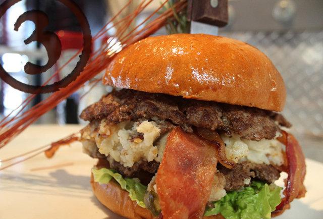 hash house a go go burger mashed potato bacon cheddar san diego