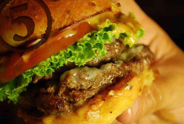 The burger at 4505 Meats