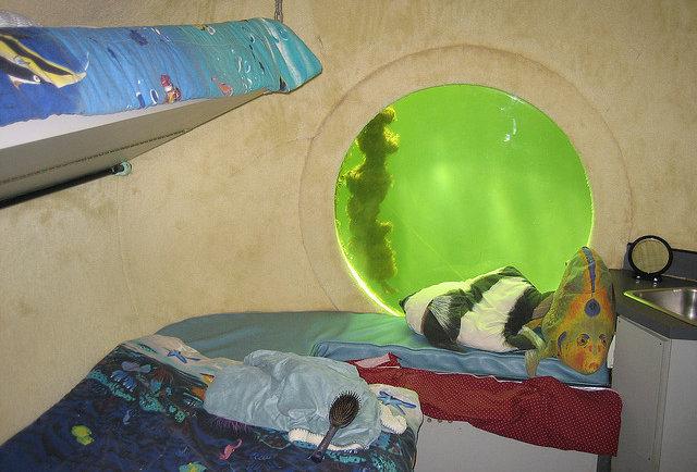 Undersea bedroom
