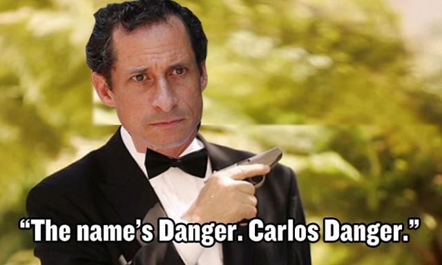 """The Name's Danger. Carlos Danger"" - Image Copyright ThrilList.Com"
