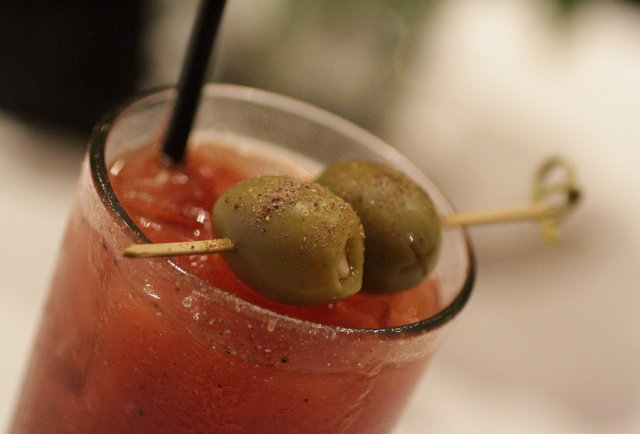 Bloody Mary at Umami Burger in the West Village