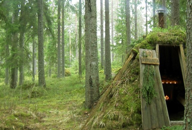 swedish hut in the woods
