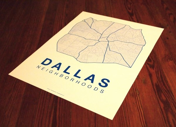 Dallas Typographical Maps