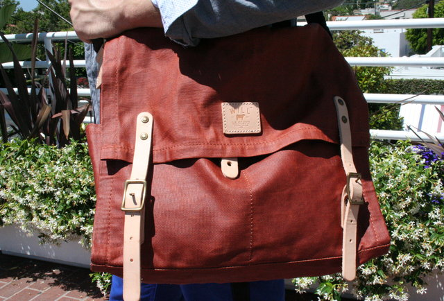 Will Leather Goods Wax-Coated Messenger