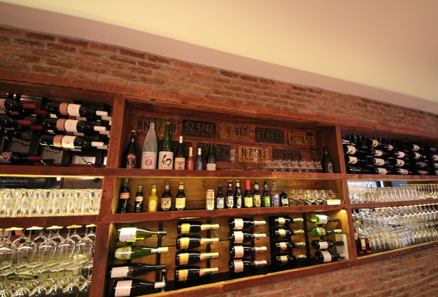 Beer, wine, and pork plates in the West Village