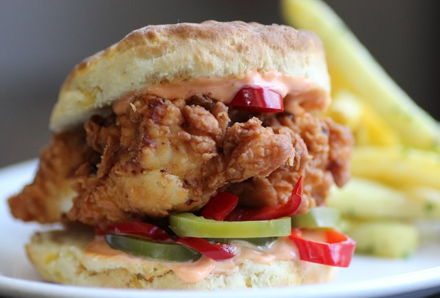 Hog & Rocks Chicken & Biscuit Sandwich