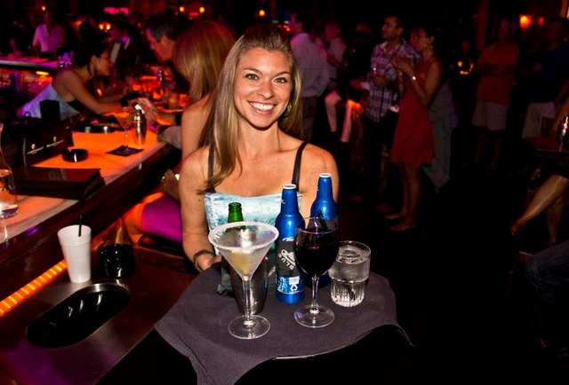 Cocktails and cleavage