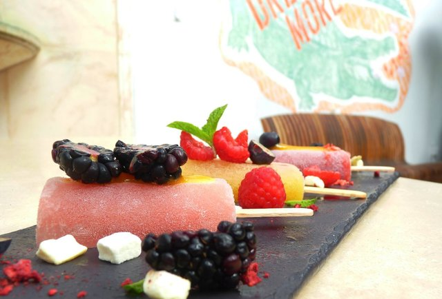 Spiked popsicles at Serafina Dream