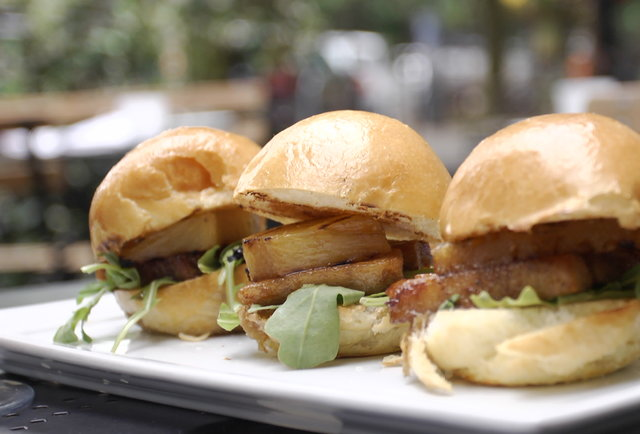 35th Street Kitchen + Bar's Crispy Pork Belly Slider