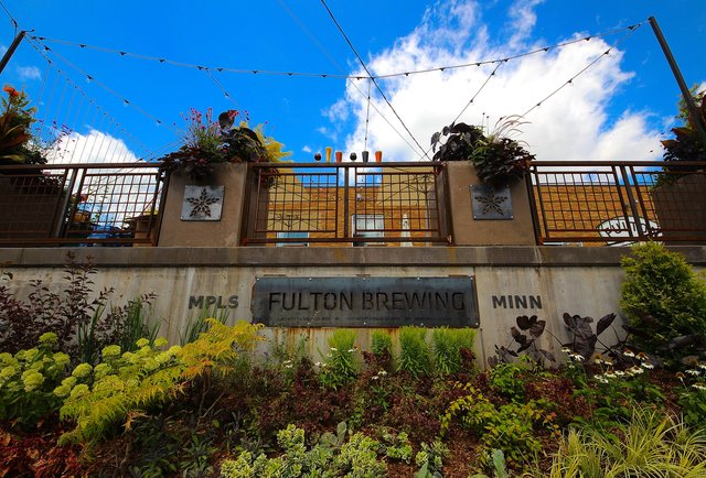 Fulton Brewery patio in Minneapolis, Minnesota.