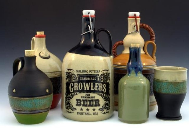 Carlburg Pottery's Custom Ceramic Growlers