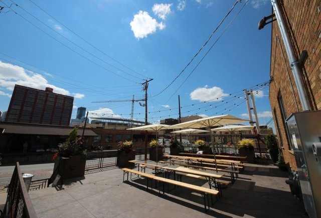 Fulton Brewery patio in Minneapolis