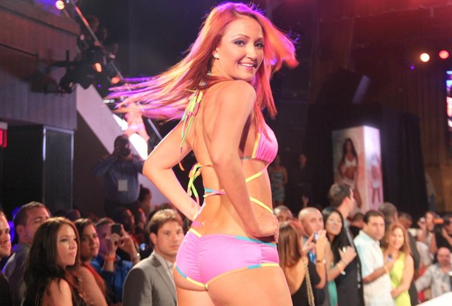 The Dolphins Cheerleaders Swimsuit Calendar Runway Show