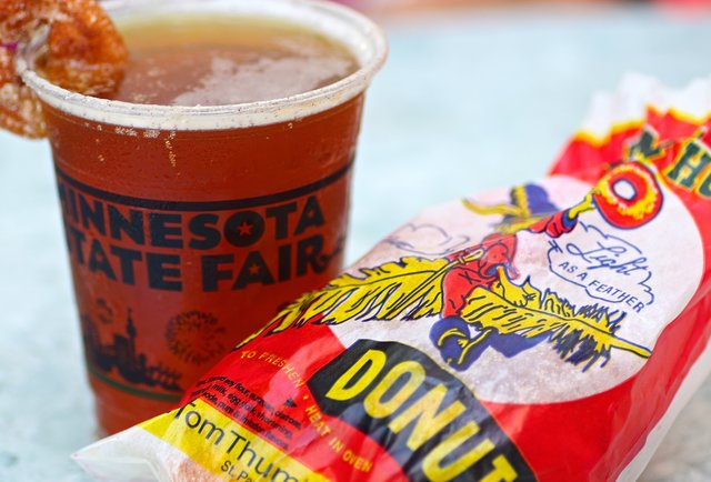 Lift Bridge Mini Donut beer at the Minnesota State Fair