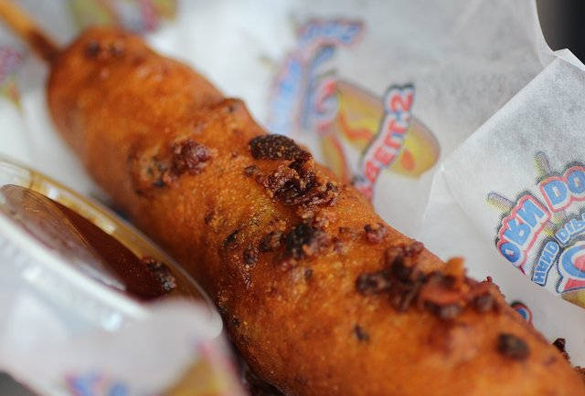 Double Bacon Corndog at Flavored Corndogs in the Minnesota State Fair.