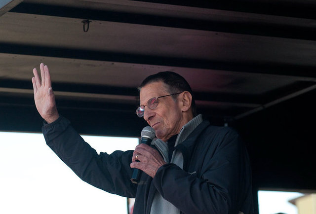 Leonard Nimoy at Spock Days in Vulcan, Alberta.