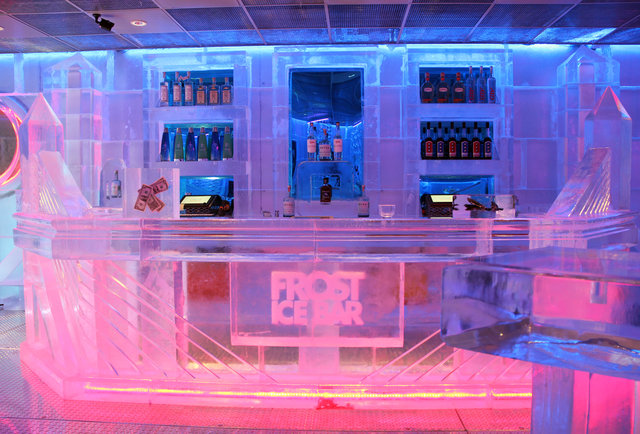 The bar at Frost Ice Bar